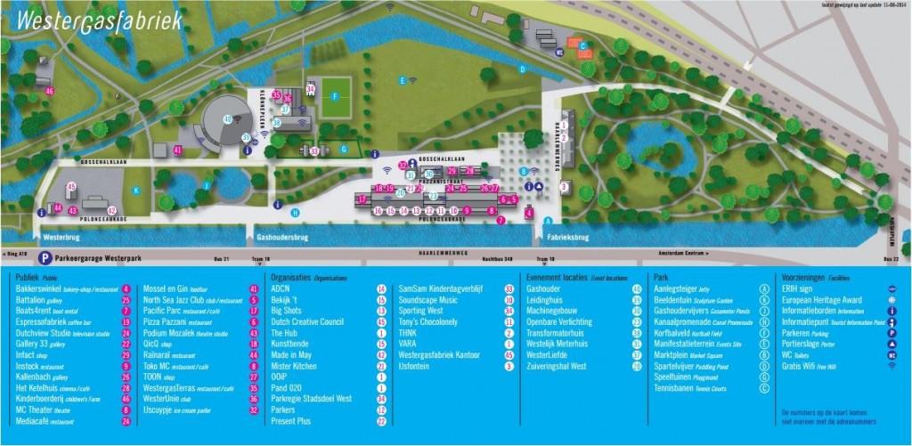 Um mapinha para entender o Westerpark.