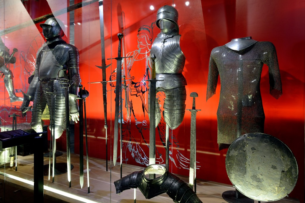 Suits of armour at the castle