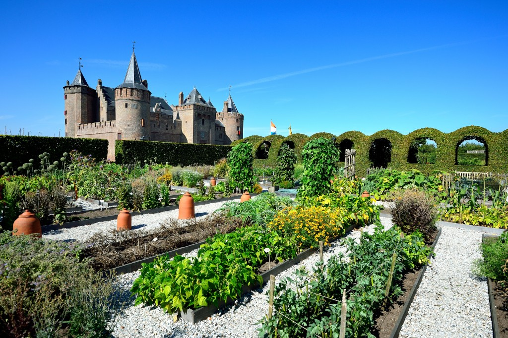 the castle has beautiful Renaissance gardens with flowers, herbs and vegetables from bygone days