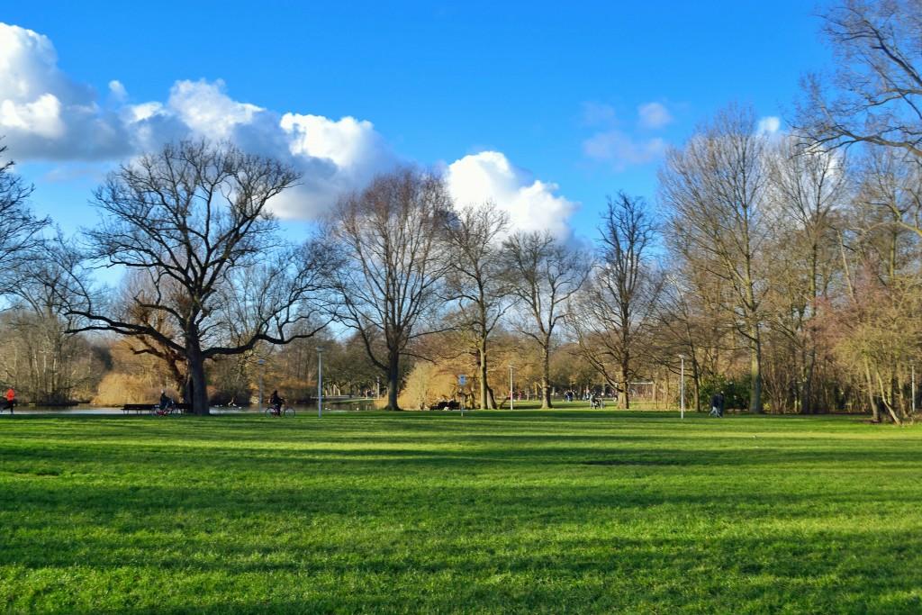 Áreas verdes para estender uma toalha no verão