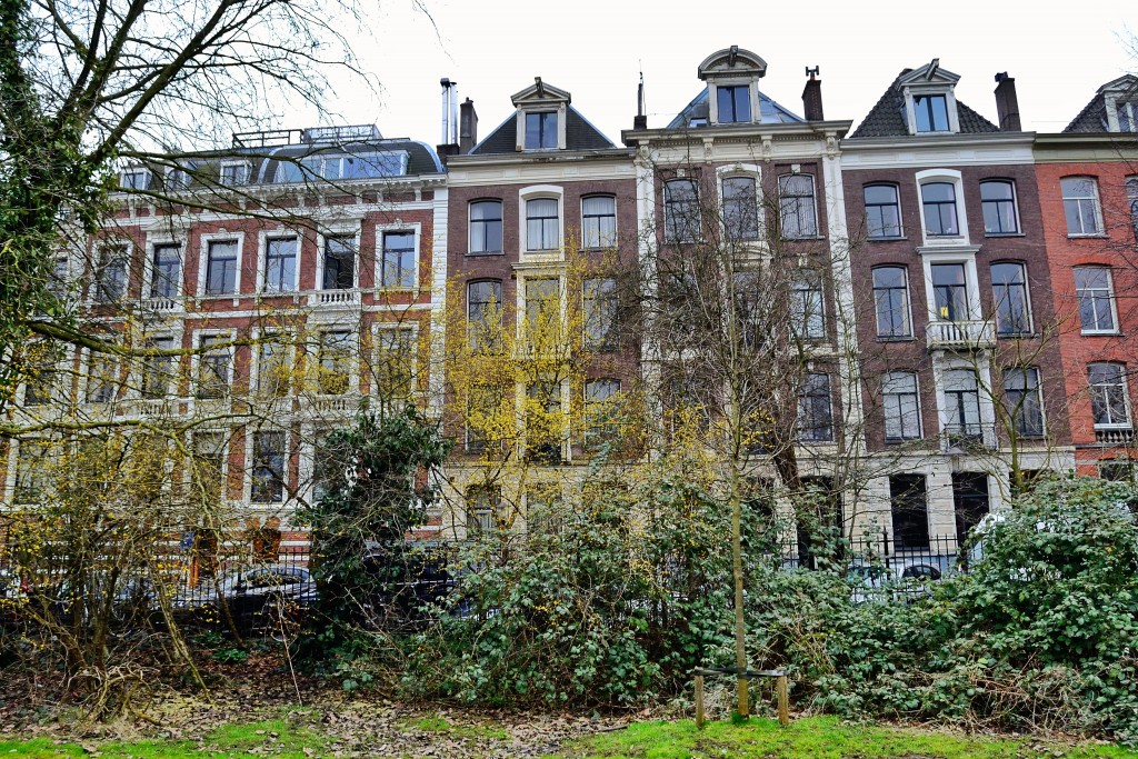 As mansões com fundo para o parque