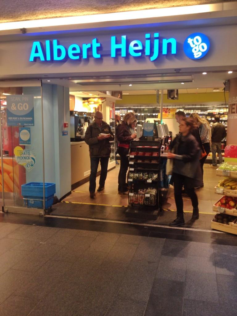 O Albert Heijn TO GO, espalhado por quase toda Amsterdam