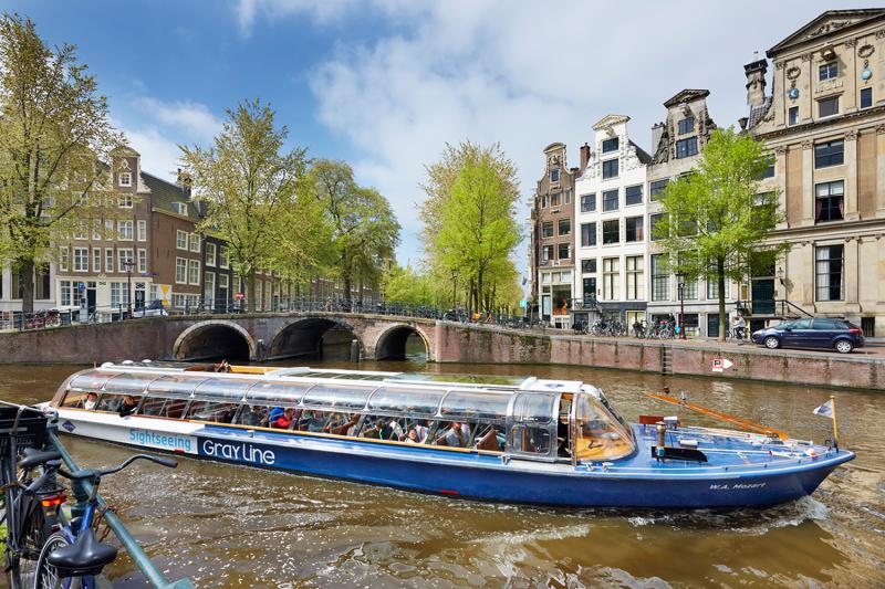 cruzeiro nos canais de Amsterdam