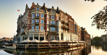 fachada do hotel De L'Europe em Amsterdam