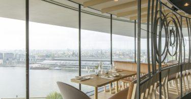 Restaurante com vista panorâmica em Amsterdam MOON | Foto: Reprodução