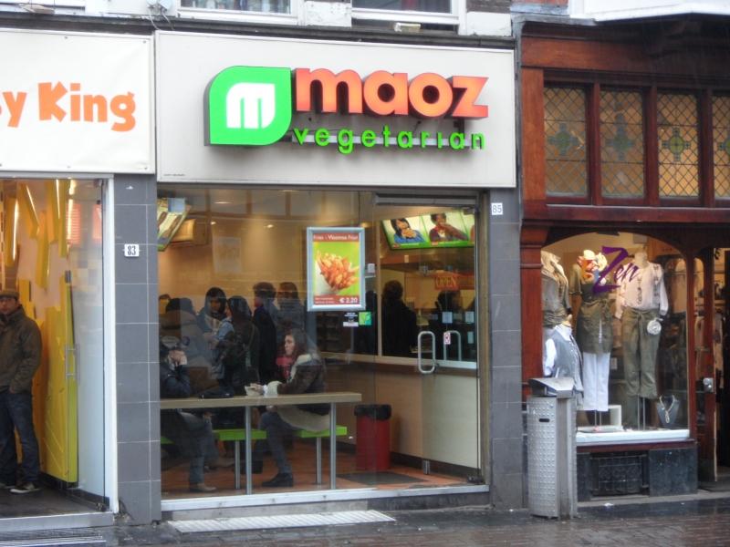 Restaurante e lanchonete vegetariano em Amsterdam Maoz