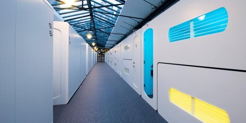 As cabines no CityHub Amsterdam