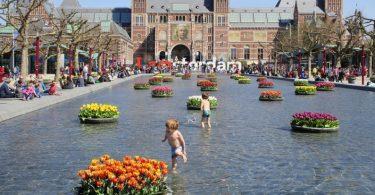 Amsterdam durante a primavera