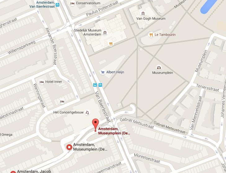 Localização do ponto de ônibus para o Keukenhof